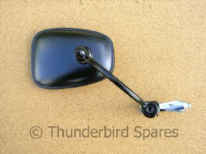 Bar End Mirror, Matt Black, Conti Head, Classic Bike/Cafe Racer Use.
